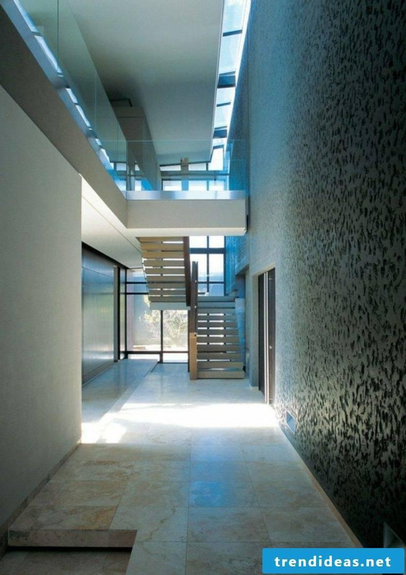 Decorative plaster Dark gray corridor interesting texture