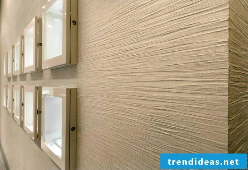 Decorative plaster modern look stripes pattern
