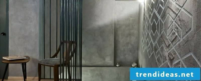 Decorative plaster gray modern look