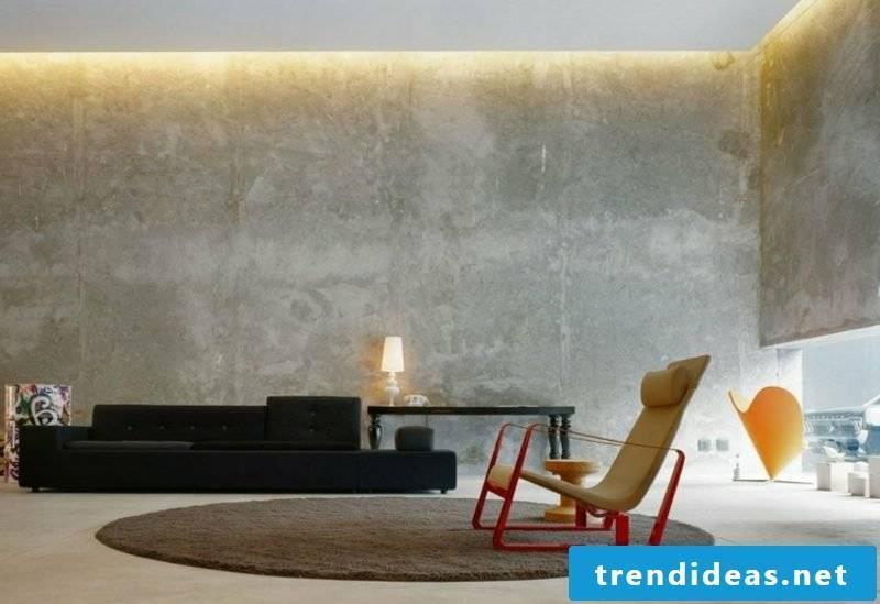 Decorative plaster puristic concrete look