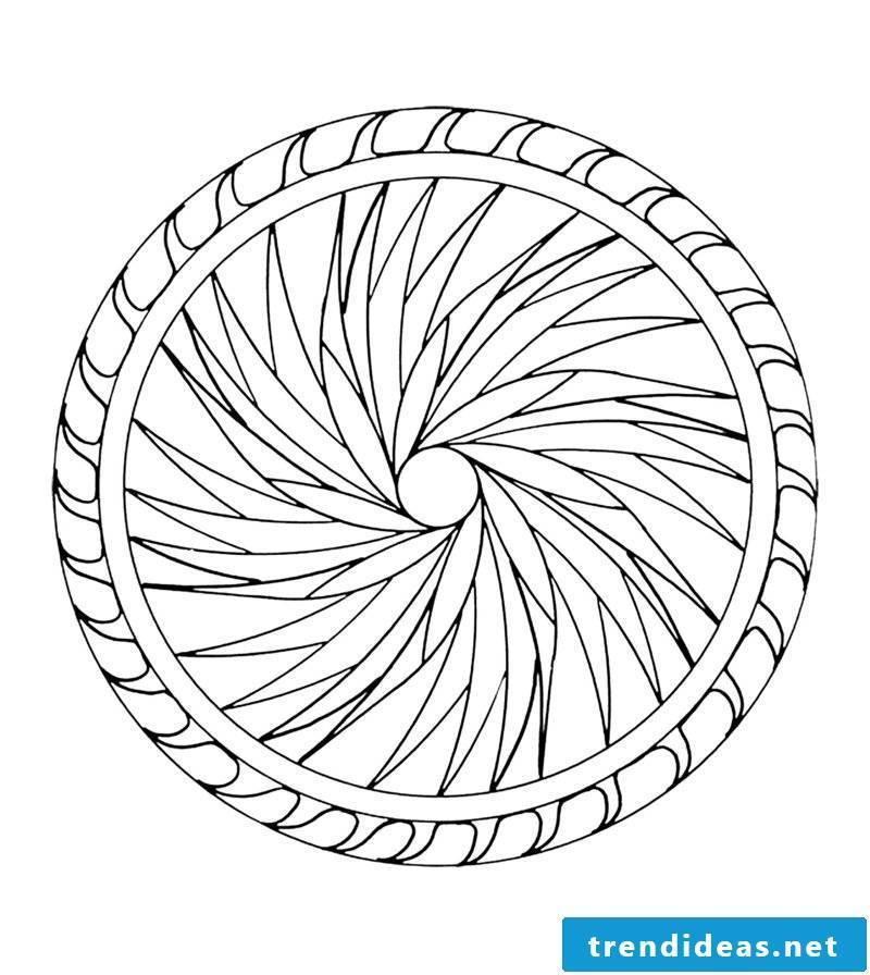 mandala templates effect of geometric shape