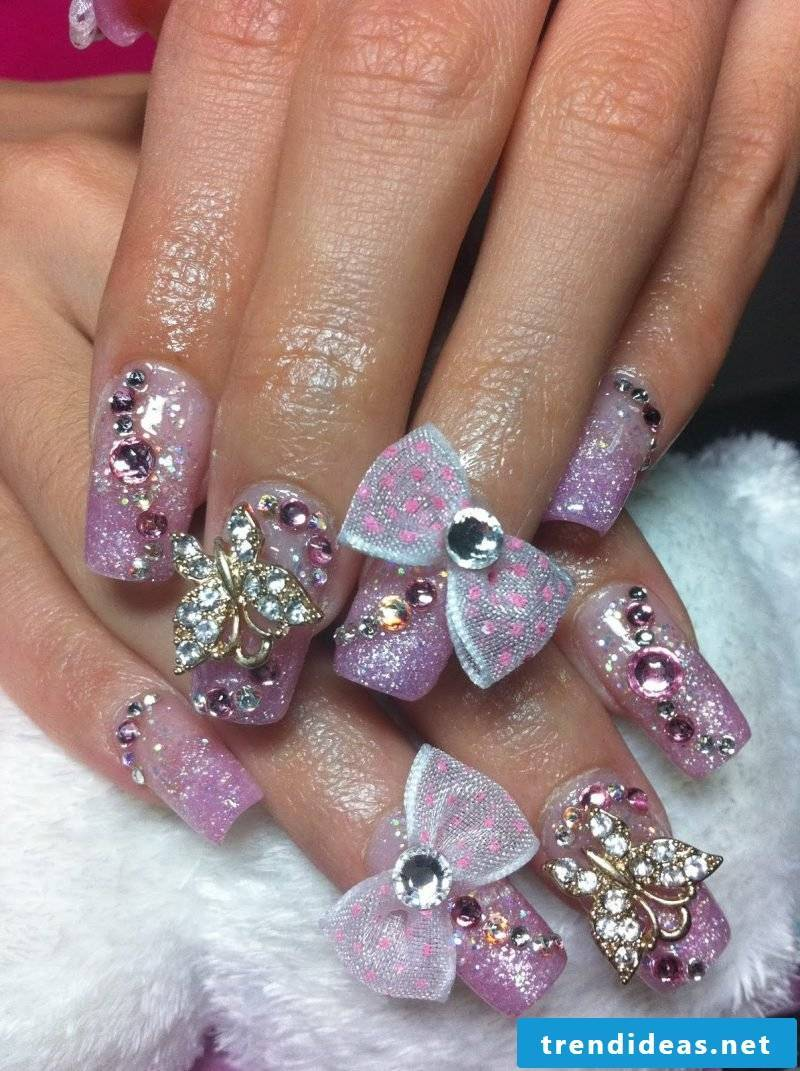 Nail modeling Pictures: Gel nails