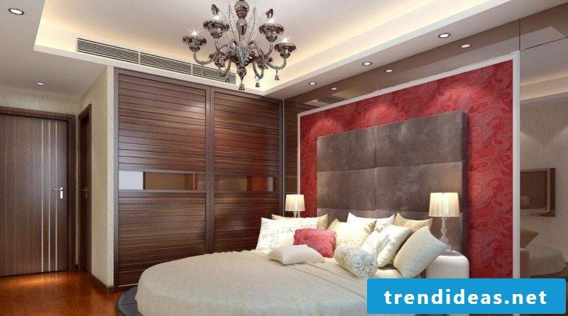 Wood wall covering bedroom