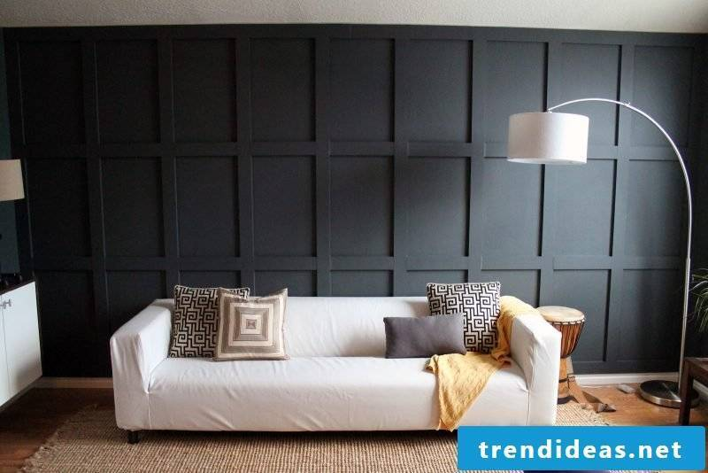 Wood wallcovering black