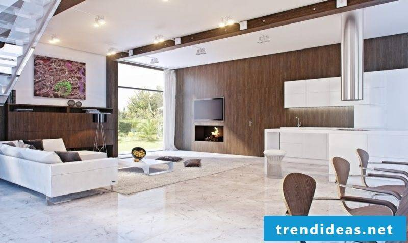 Wood wallcovering interior design