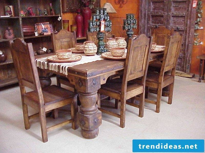 Mexican furniture wood