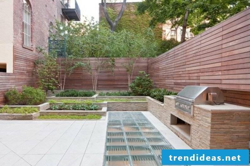 Garden grill made of natural stone modern design