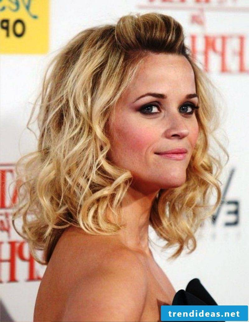 medium-length hairstyles curly