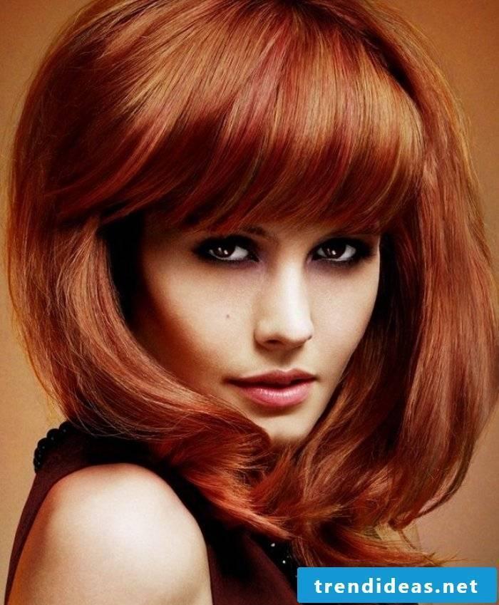 graded medium long hairstyles copper