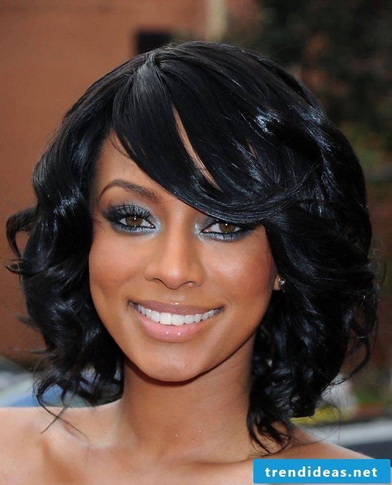 medium-length hairstyles black
