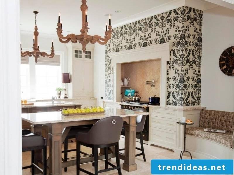 kitchen wall design elegant