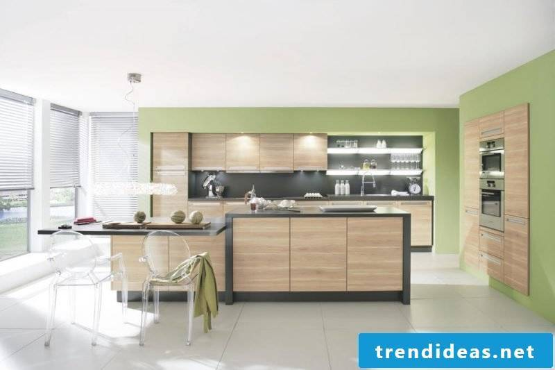 kitchen wall design green