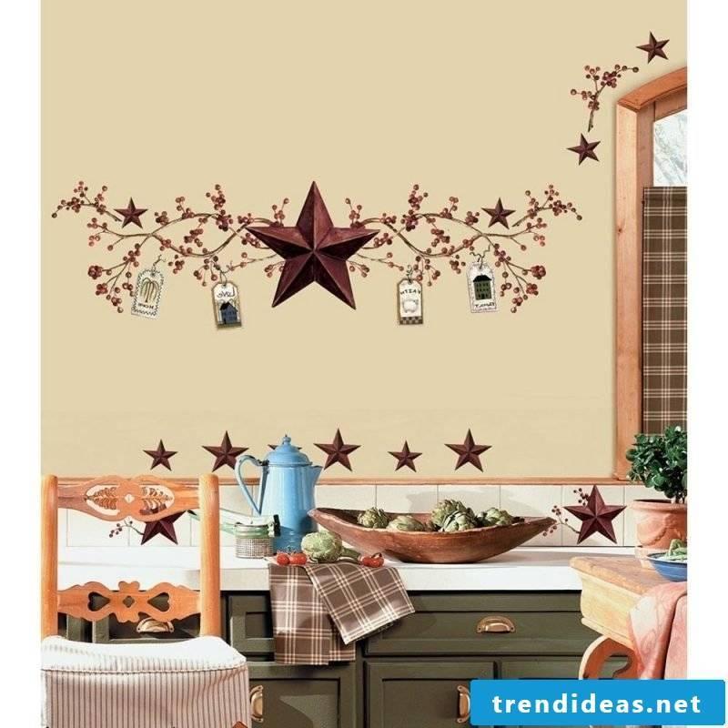 kitchen wall design vintage