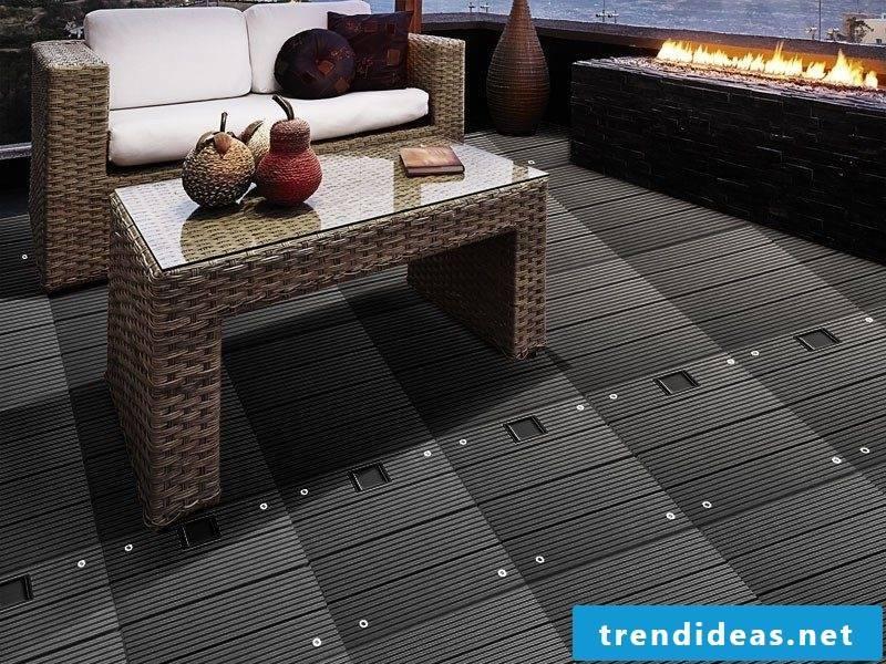 balcony floor black