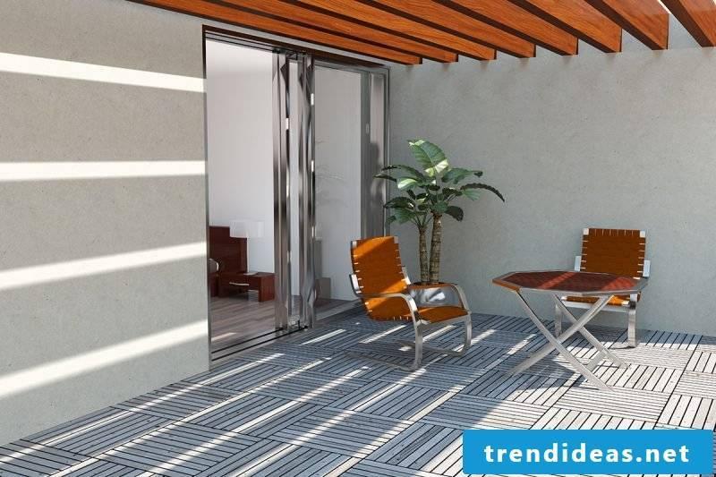 balcony floor white tiles
