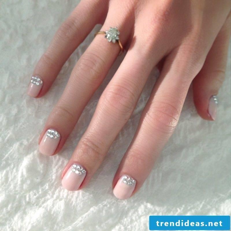 wedding nails glamorous