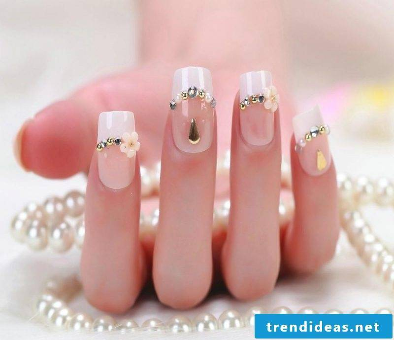 wedding nails plain