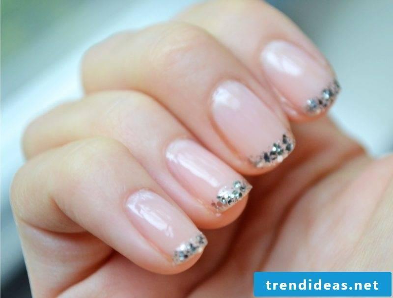 wedding nails simple