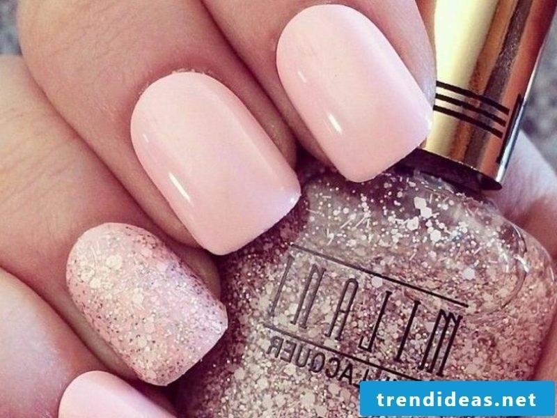 wedding nails pink