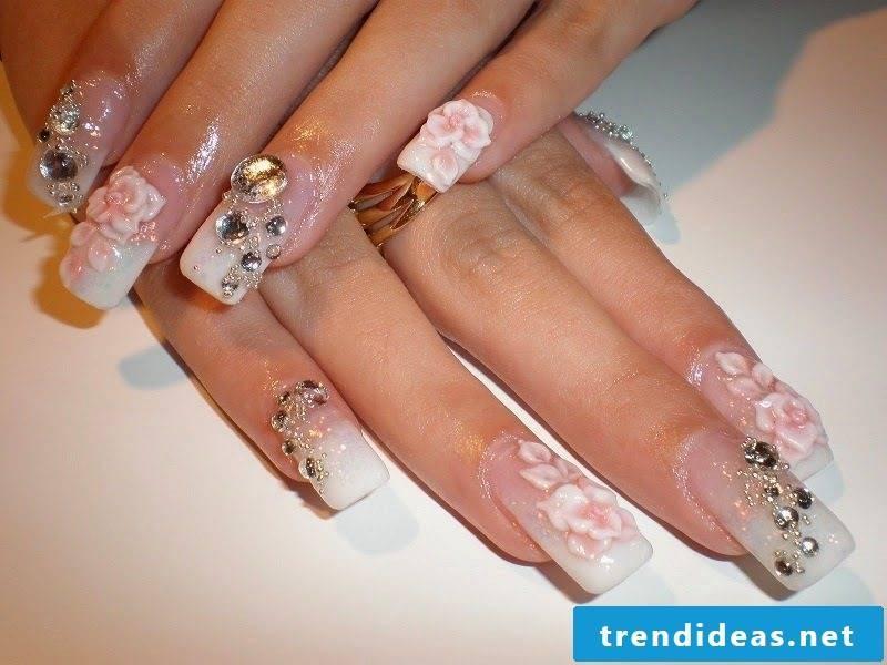 lavish wedding nails