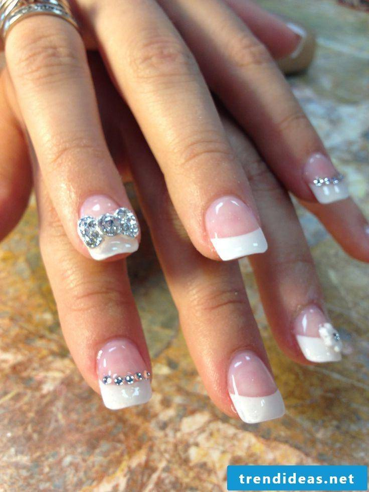 wedding nails shiny