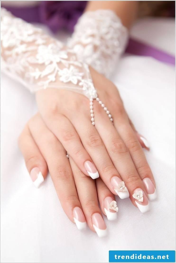 wedding nails stylish