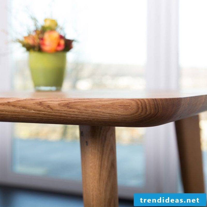 Solid wood tables will express your individualism
