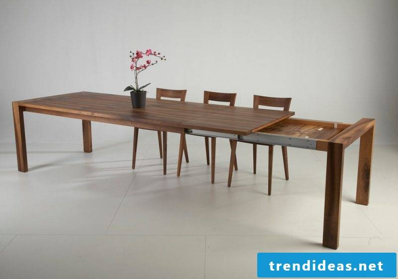 Solid wood tables also have extras