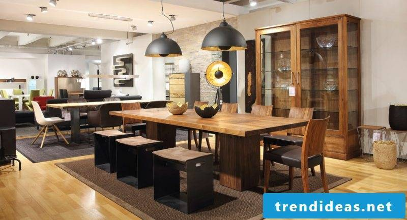 With solid wood tables bring old touch in the apartment