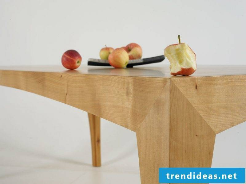 Solid wood tables - interesting shape of the legs
