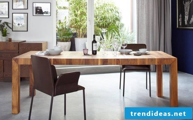 Solid wood tables are perfect for large rooms