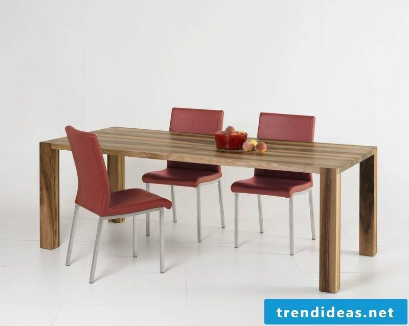 Solid wood tables are eternal
