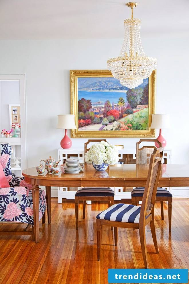 Solid wood tables go well with country style