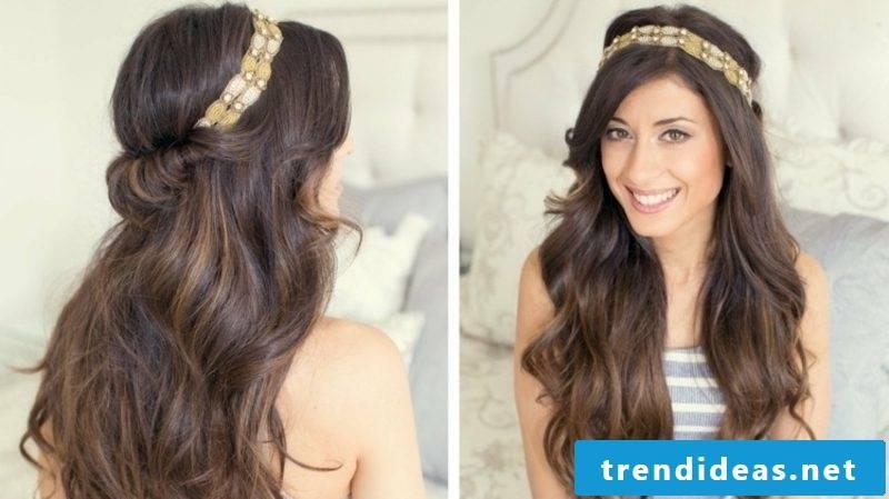 Hairband hairstyle semi-open gorgeous look