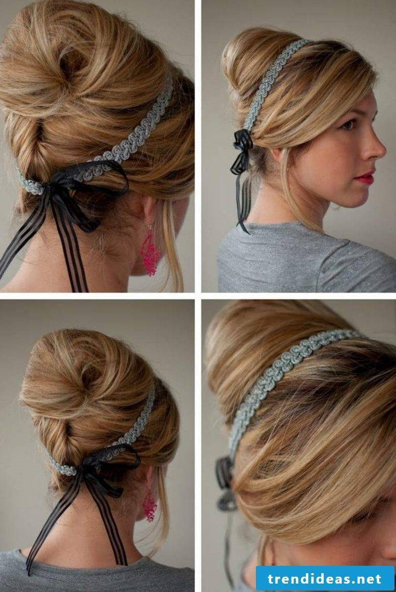 Hairstyles with hairband to make your own