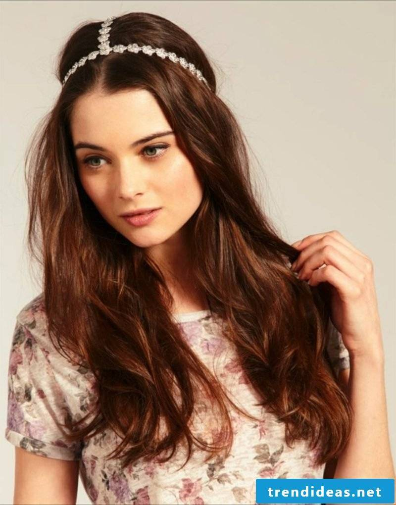 Hairstyles with hairband open hairstyle romantic look