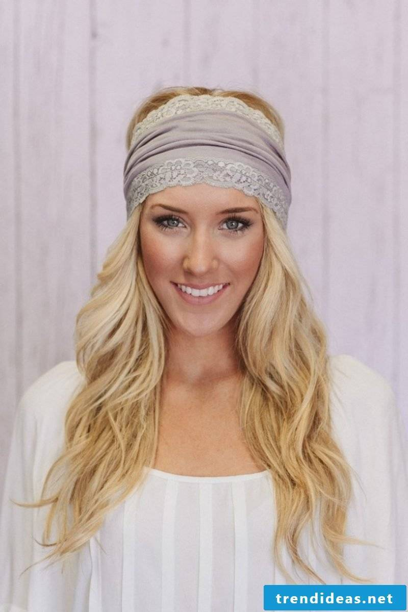 Hairstyles with hairband Boho Chic