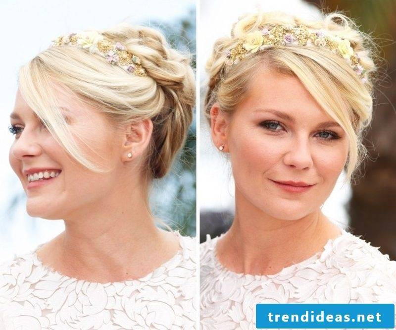 Hairstyles with hairband updo Pony hairband with flowers