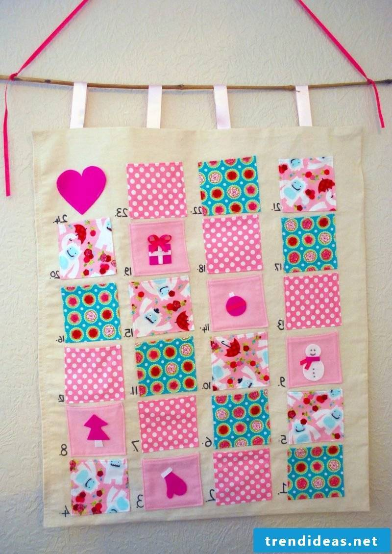 Advent calendar sewing DIY idea