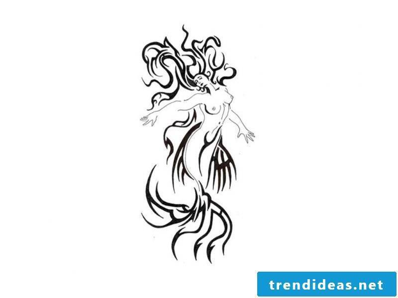 Tattoo templates free Mermaid