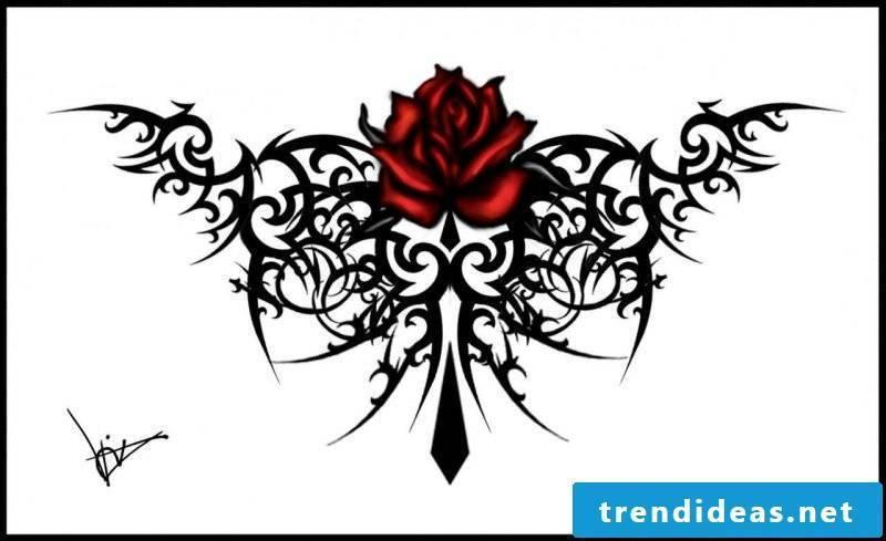 Tattoo templates free tribal rose