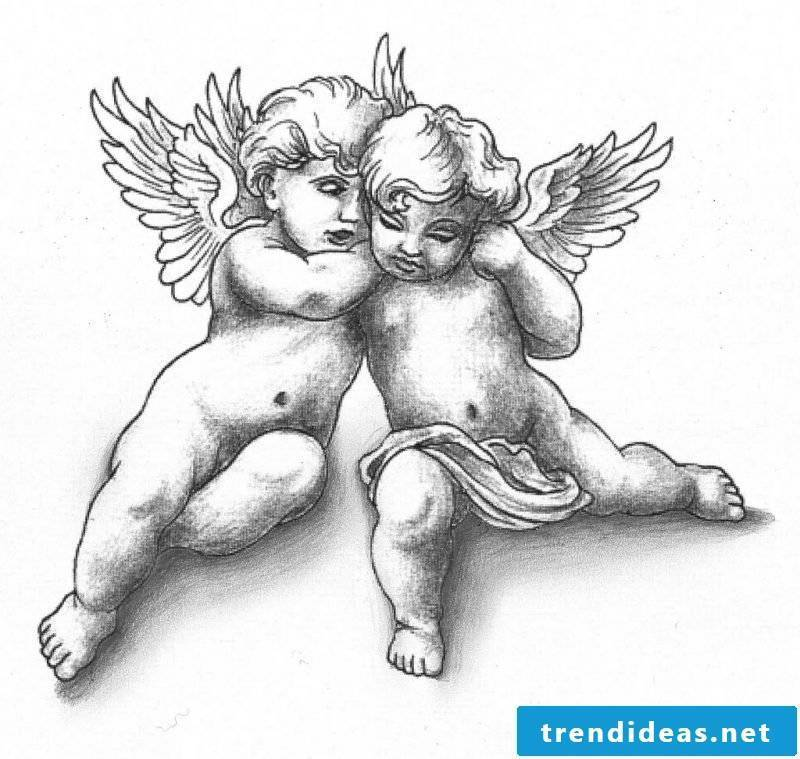 Tattoo templates free baby angels
