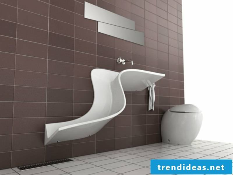 extravagant sink with curved lines