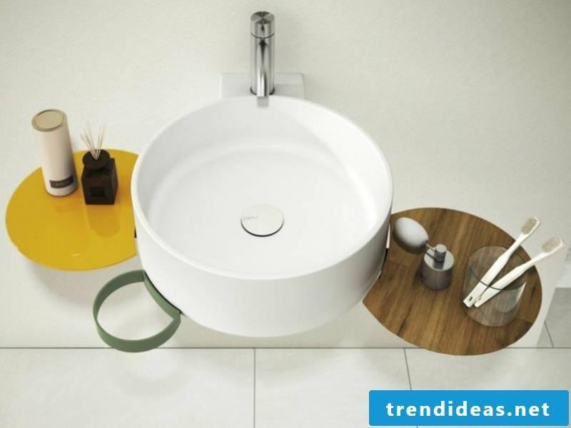 designer round sink