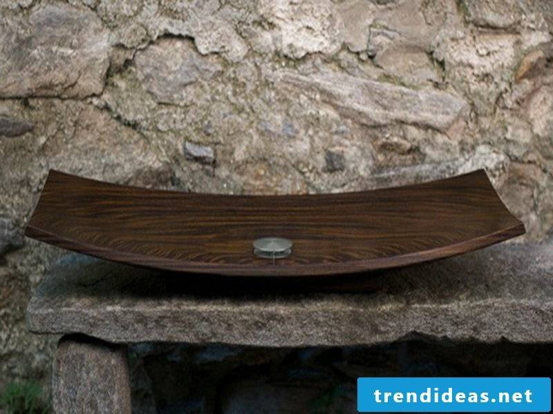 wooden washbasin