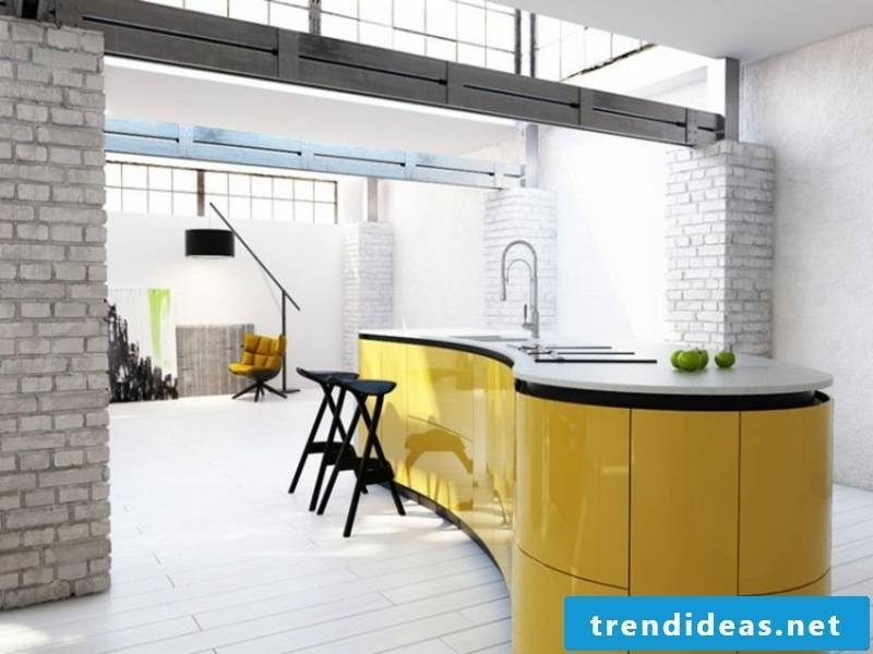 decorate the kitchen island with yellow