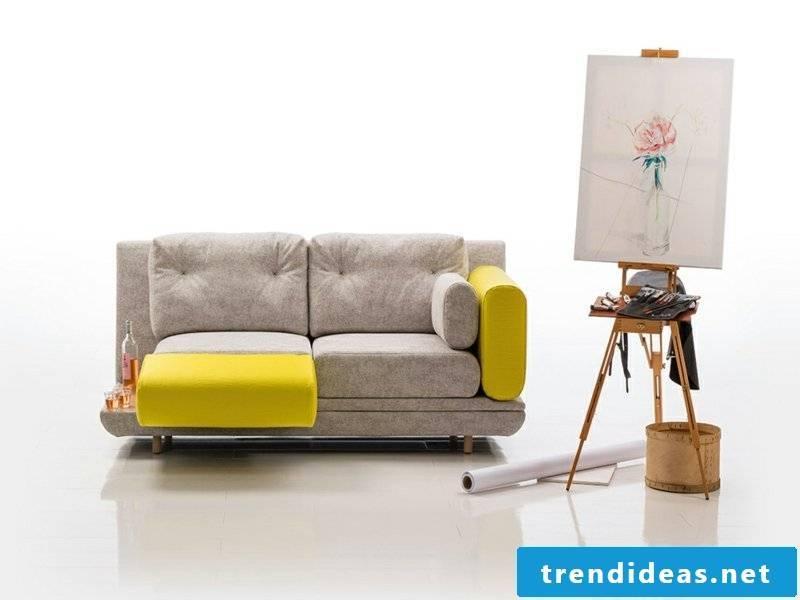 half yellow sofa