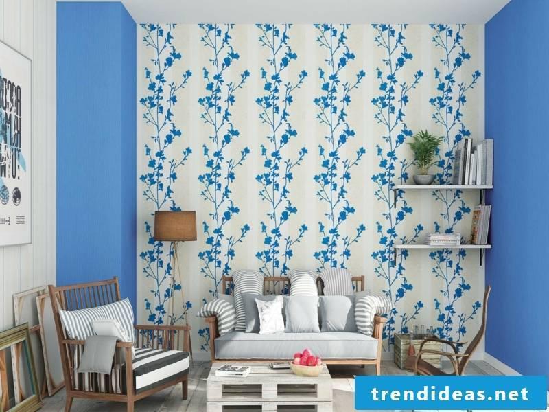 modern wallpaper blue-plant-resized