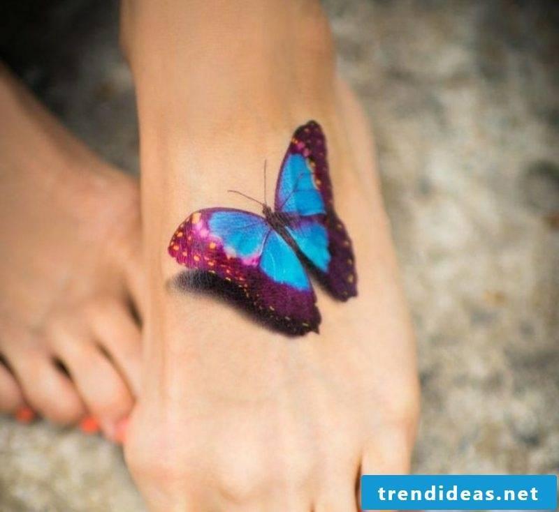 original butterfly tattoo foot