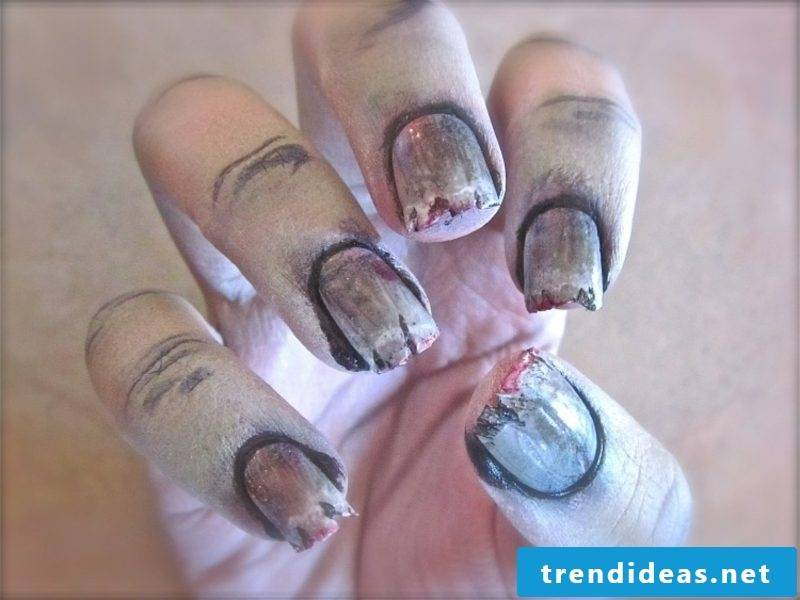 Nail design pattern scary ideas for Halloween